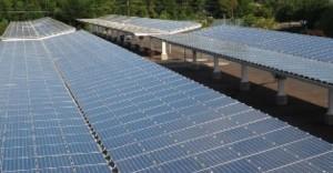 Sončne elektrarne na parkiriščih.